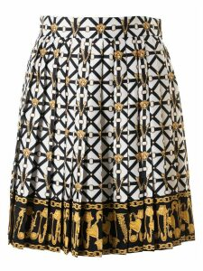 Versace Strap Logo Plaque Motif Skirt