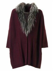 Fabiana Filippi Furry Collar Coat
