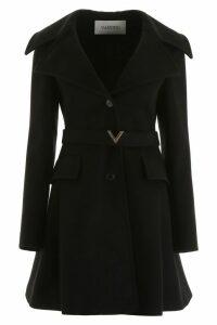 Valentino Vgold Belt Midi Coat