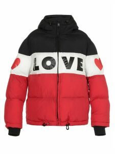 Love Moschino Quilted Coat With Logo