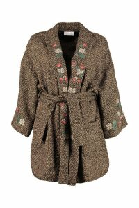 RED Valentino Mixed Wool Tweed Coat