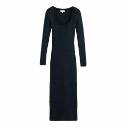 Fitted Maxi Dress with Long-Sleeves
