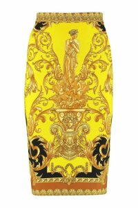 Versace Printed Pencil Skirt
