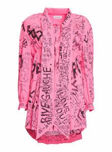 Balenciaga Babydoll Dress With Pleats