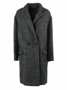 Isabel Marant Grey Wool Boxy Fit Double Breasted Coat