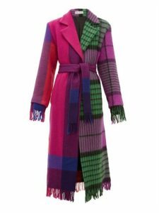 Rave Review - Lola Single Breasted Upcycled Blanket Wool Coat - Womens - Multi