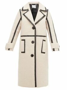 Stand Studio - Kenzie Patent-edged Faux-shearling Coat - Womens - Multi