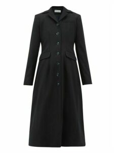 Molly Goddard - Karolina Gathered-back Wool-blend Coat - Womens - Navy
