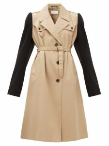 Maison Margiela - Wool Sleeve Twill Trench Coat - Womens - Beige