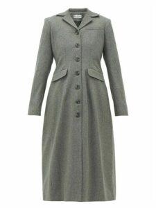 Molly Goddard - Karolina Gathered-back Wool-blend Coat - Womens - Grey