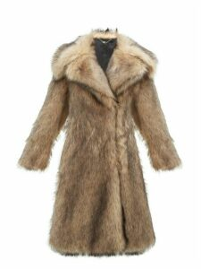 Paco Rabanne - Oversized Faux Fur Coat - Womens - Brown