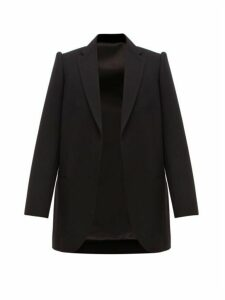 Balenciaga - Single Breasted Wool Twill Blazer - Womens - Black