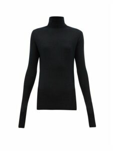 Raey - Roll Neck Fine Rib Cashmere Sweater - Womens - Navy