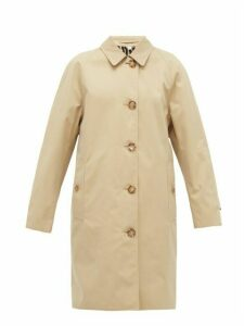 Burberry - Leopard-print Lined Cotton Trench Coat - Womens - Beige Multi