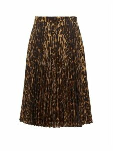 Burberry - Leopard Print Pleated Skirt - Womens - Leopard