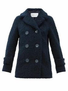 Stand Studio - Lou Double-breasted Faux-shearling Coat - Womens - Navy
