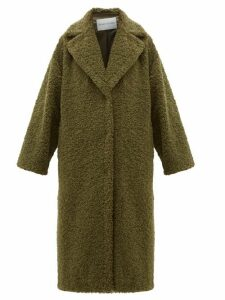 Stand Studio - Lisbeth Single Breasted Faux Shearling Teddy Coat - Womens - Khaki