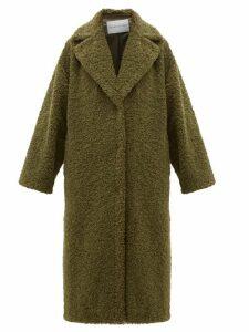Stand Studio - Lisbeth Single-breasted Faux-shearling Teddy Coat - Womens - Khaki