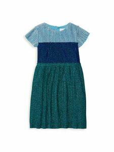 Little Girl's & Girl's Colorblock Pleated Dress