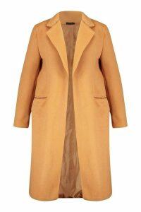 Womens Plus Tailored Coat - beige - 18, Beige