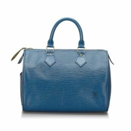Louis Vuitton Blue Epi Speedy 25