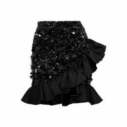 Angelys Balek X Anna Dello Russo Black Sequin Mini Skirt