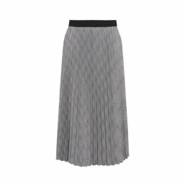 Gerard Darel Pleated Checked Tia Skirt