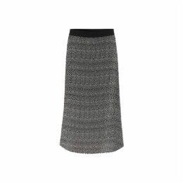 Gerard Darel Pleated Print Tracey Skirt