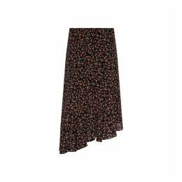 Gerard Darel Asymmetrical Printed-muslin Teva Skirt