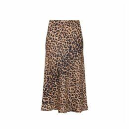 Gerard Darel Flared Leopard Print Tressy Skirt