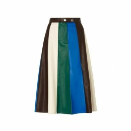 Kitri Tatiana Faux Leather Midi Skirt