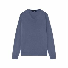 Hackett Merino Wool And Cashmere Blend V-neck Sweater