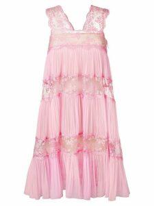 Christopher Kane gathered trim mesh cami dress - Pink
