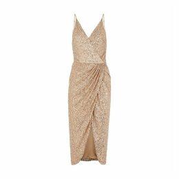 Jonathan Simkhai Gold Sequin Midi Dress