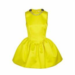 Christopher Kane Cupcake Yellow Satin Mini Dress
