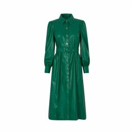 Kitri Elena Green Faux Leather Dress