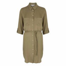 Heidi Klein Venice Olive Shirt Dress