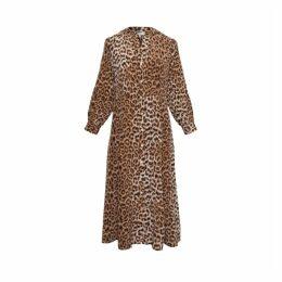 Gerard Darel Long Leopard-printed Silk Darielle Dress