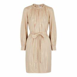 Velvet By Graham & Spencer Dasha Sand Lamé Mini Dress