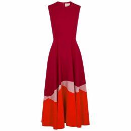 Roksanda Alesi Colour-blocked Cady Midi Dress