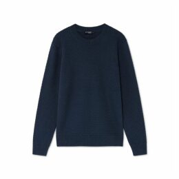 Hackett Textured Cotton Crew Neck Sweater