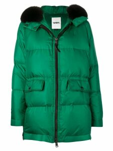 Yves Salomon Army oversized hooded coat - Green