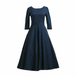 MATSOUR'I - Jacquard Dress Alyzee Dark Blue