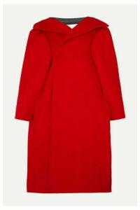 Balenciaga - Oversized Wool-blend Felt Coat - Red
