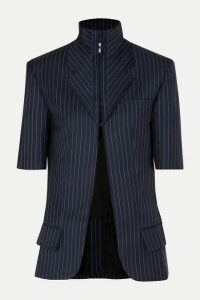 Situationist - Pinstriped Wool-blend Blazer - Blue