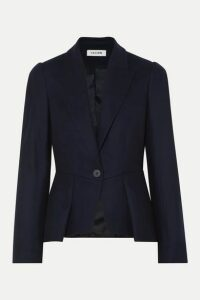 Cefinn - Audrey Pleated Wool-blend Blazer - Midnight blue