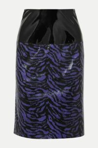 Stand Studio - + Pernille Teisbaek Marlee Zebra-print Faux Leather Skirt - Purple