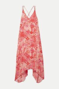 Chufy - Colca Printed Crepe De Chine Dress - Peach