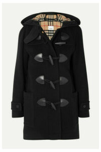 Burberry - Hooded Wool-blend Felt Coat - Black
