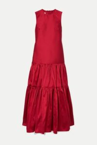 Marques' Almeida - Tiered Taffeta Maxi Dress - small